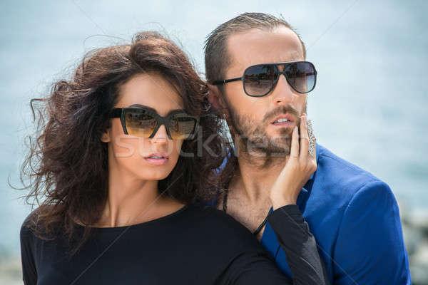 Stylish young couple Stock photo © bezikus