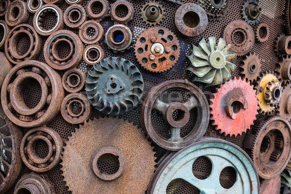 Rusted metal mechanisms Stock photo © bezikus