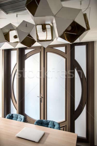 Modern meeting room. Hotels interior shooting. Stock photo © bezikus