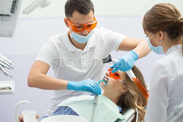 Patient in dentistry Stock photo © bezikus