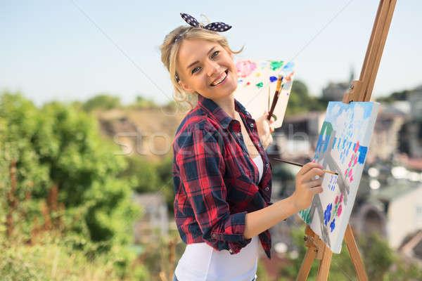 Сток-фото: красивой · художник · красочный · фотография