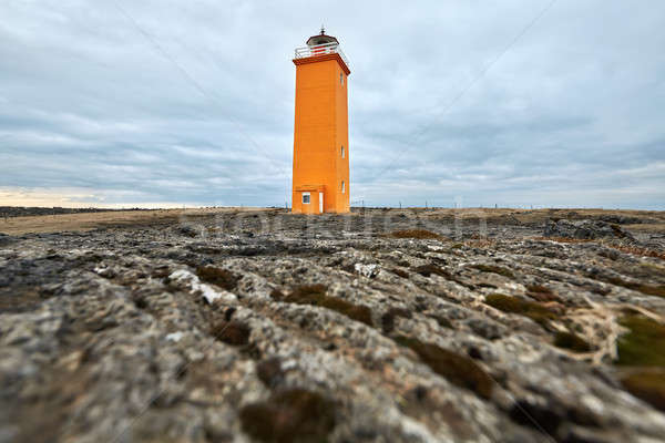 Paysage orange phare coloré brun domaine Photo stock © bezikus