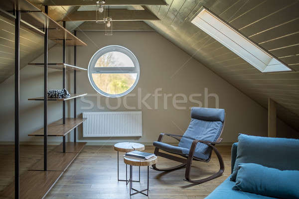 Grenier style moderne modernes lumière murs étage Photo stock © bezikus