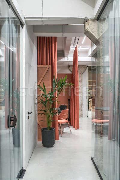 Elegancki wnętrza strych stylu szary ściany Zdjęcia stock © bezikus