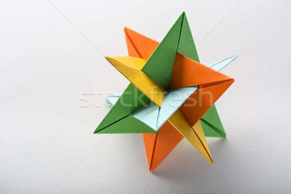 Star origami stüdyo bir ışık renkli Stok fotoğraf © bezikus