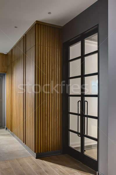 Estilo moderno interior sala gris paredes Foto stock © bezikus