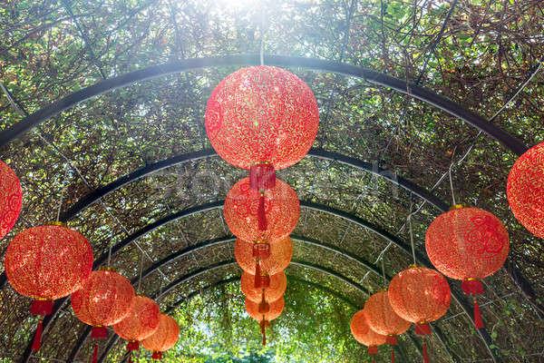 Asian red lanterns Stock photo © bezikus