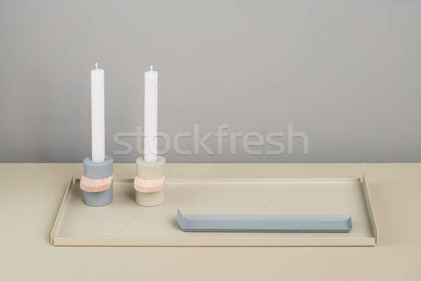 Metal supports and candlesticks Stock photo © bezikus
