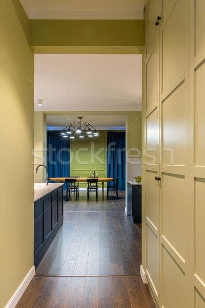 Hal moderne stijl kleurrijk muren Blauw Stockfoto © bezikus