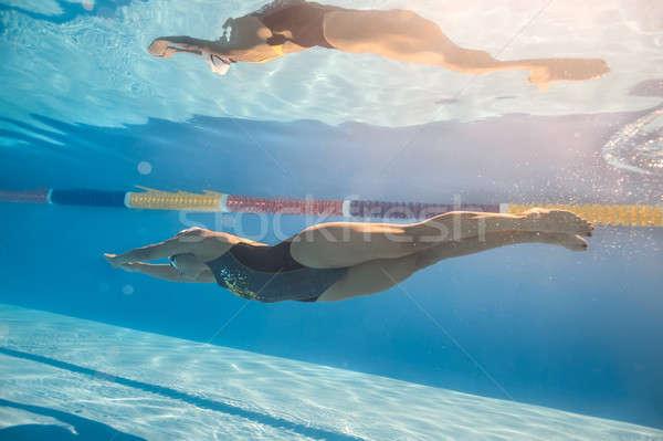 пловец ползать стиль подводного хорошие плавать Сток-фото © bezikus