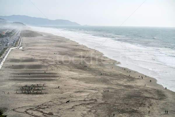Plage San Francisco côte sable brumeux horizon Photo stock © bezikus