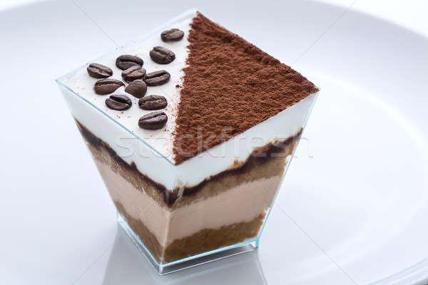 Congelada iogurte café cacau bolo copo Foto stock © bezikus