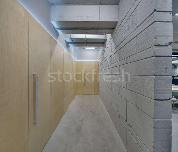 Korytarz strych stylu biuro szary Zdjęcia stock © bezikus