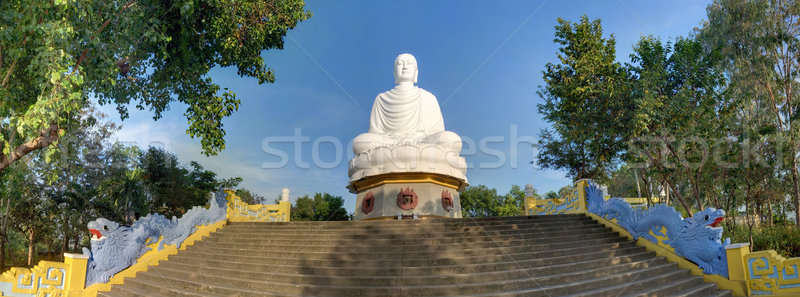 Grand blanche buddha panorama Viêt-Nam Asie Photo stock © bezikus