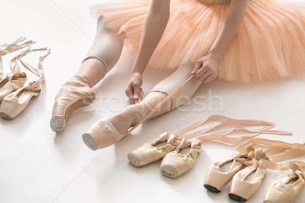 Ballet dancer in studio Stock photo © bezikus