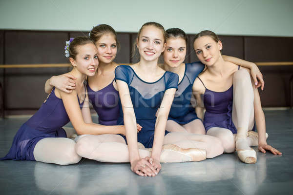 five ballerinas Stock photo © bezikus