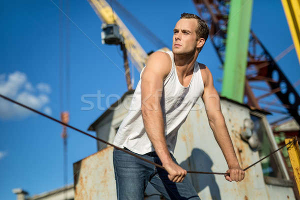Guy's portrait outdoors Stock photo © bezikus