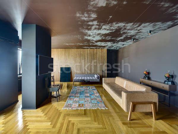 Interni stile moderno stanza muri colorato Foto d'archivio © bezikus