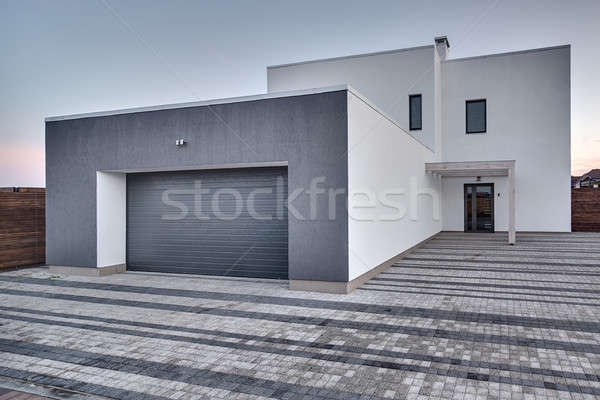 Country house in modern style Stock photo © bezikus