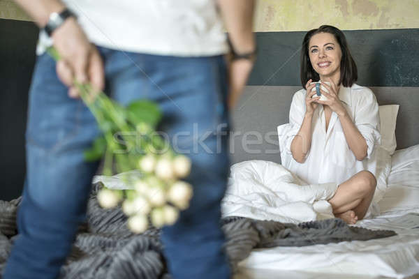 Bouquet of flowers for girlfriend Stock photo © bezikus
