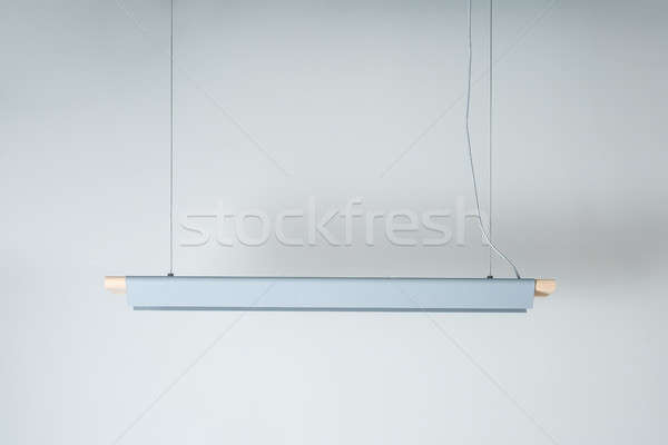 Hanging wooden-metallic lamp Stock photo © bezikus
