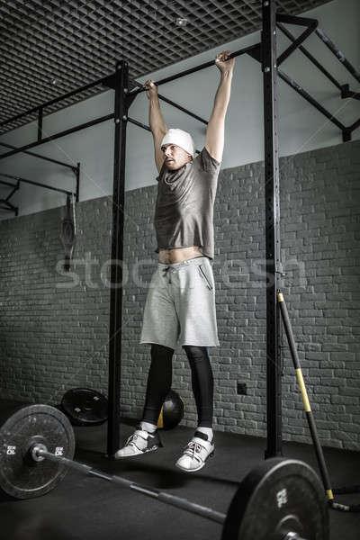 Pull-up workout photo Stock photo © bezikus