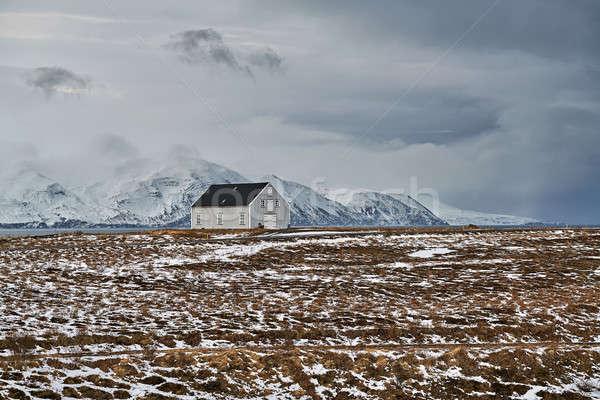 Paysage pays maison Islande brun domaine Photo stock © bezikus