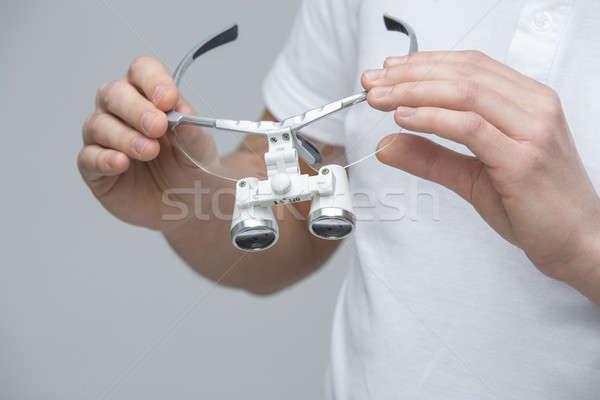 Dental binocular loupes Stock photo © bezikus