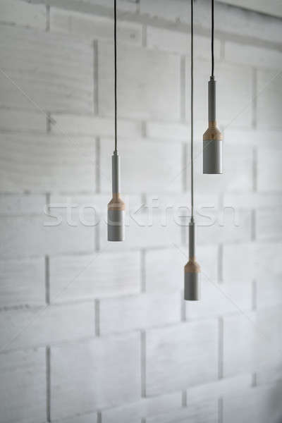 Lâmpadas sótão estilo três enforcamento Foto stock © bezikus