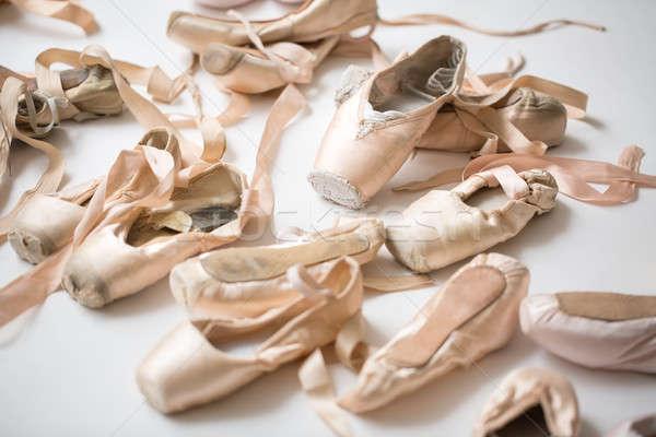 Many pairs of ballet shoes Stock photo © bezikus