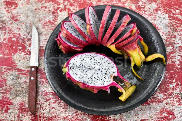Kleurrijk exotisch vruchten smakelijk witte Stockfoto © bezikus
