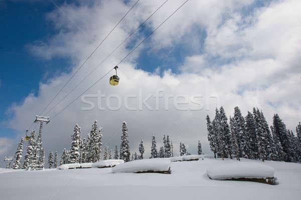 Ascensore himalaya inverno cielo blu nube Foto d'archivio © bezikus