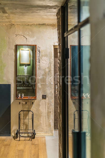 Iç çatı katı stil oda duvarlar Stok fotoğraf © bezikus