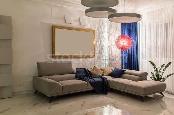 Interieur moderne stijl moderne kamer witte muren Stockfoto © bezikus