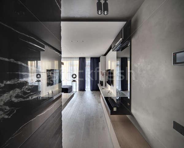 Stok fotoğraf: Salon · modern · tarzda · modern · oda · beton · mermer