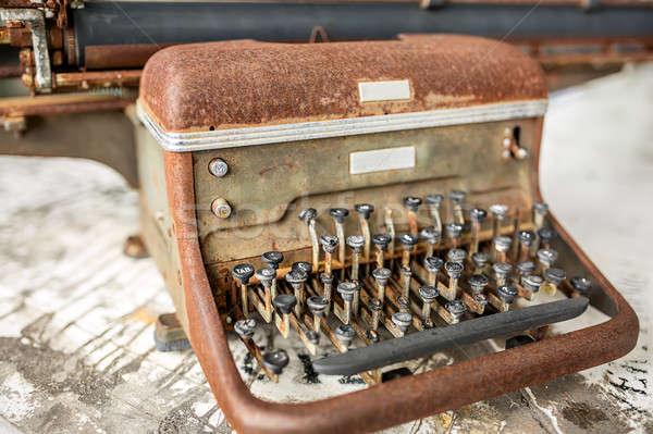 Retro rusted shabby typewriter Stock photo © bezikus