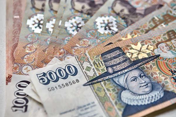 Icelandic krona banknotes Stock photo © bezikus