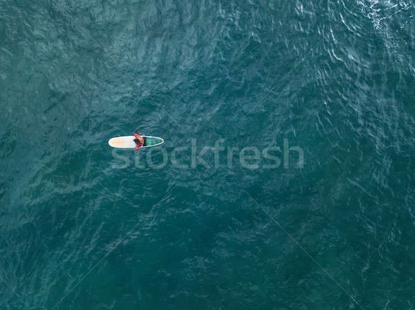 Aerial photo of surfer on board Stock photo © bezikus