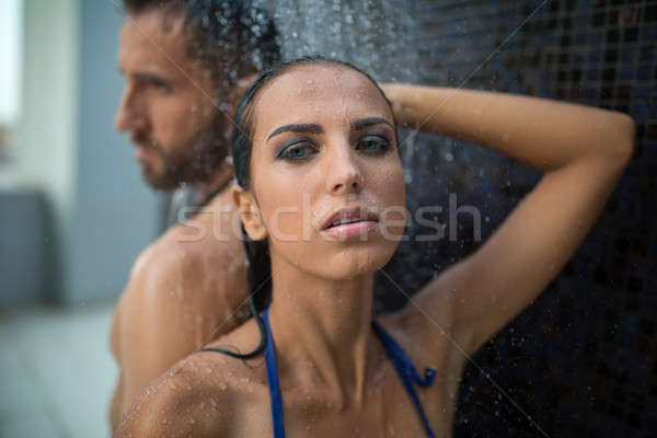 Couple in the shower Stock photo © bezikus