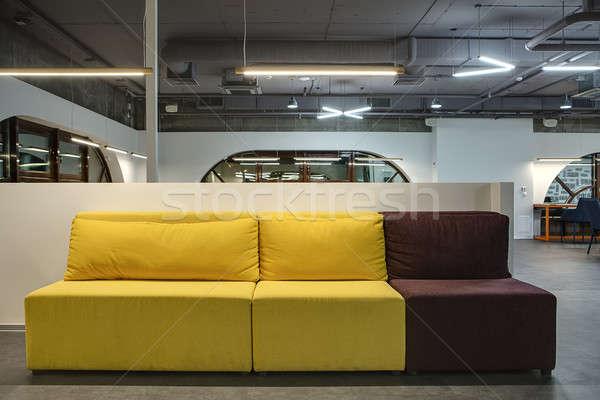 Multi-colored sofa in moder interior Stock photo © bezikus