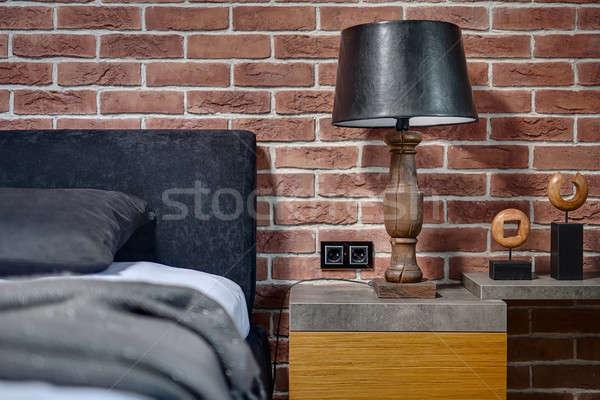 Lamp with lampshade Stock photo © bezikus