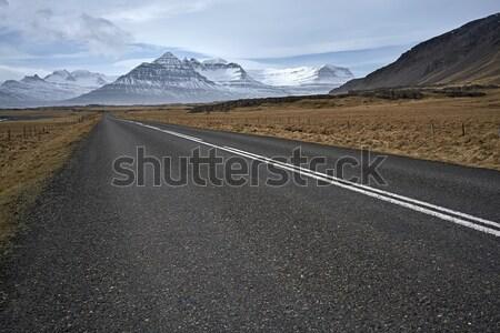 País Islândia rota marrom campos hills Foto stock © bezikus
