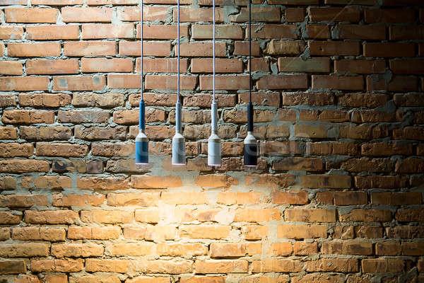 Lampy strych stylu wiszący wielobarwny Zdjęcia stock © bezikus