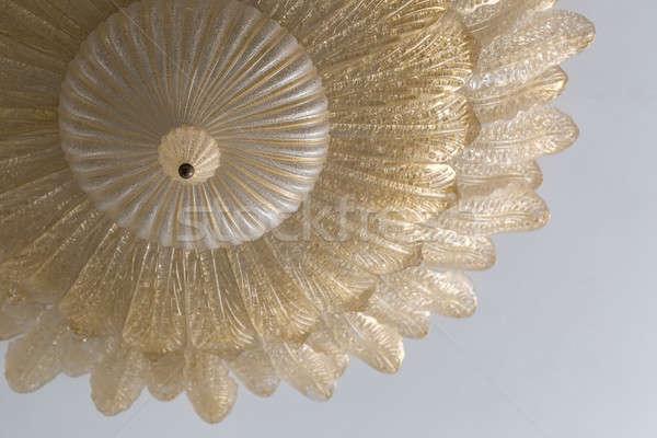 Lampadario primo piano foto impiccagione luce Foto d'archivio © bezikus