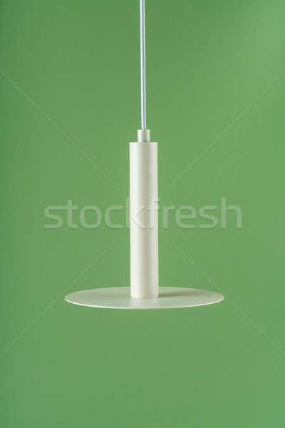 Fém akasztás bézs lámpa szép fémes Stock fotó © bezikus