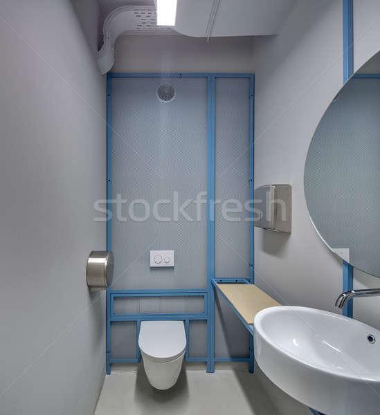 Toilettes grenier style lampes Photo stock © bezikus