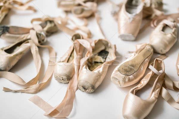 Light pointe shoes Stock photo © bezikus