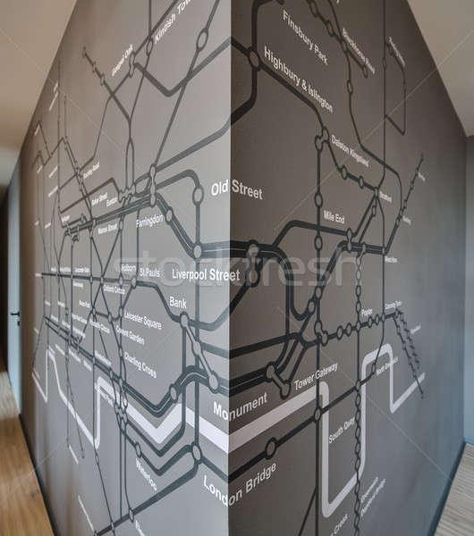 Londyn podziemnych szary ściany kąt ściany Zdjęcia stock © bezikus