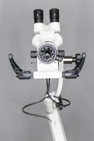 Makro görmek diş mikroskop gri Stok fotoğraf © bezikus