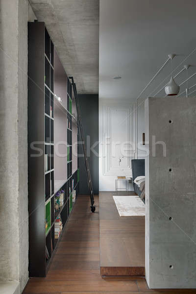 Studio apartment in loft style Stock photo © bezikus